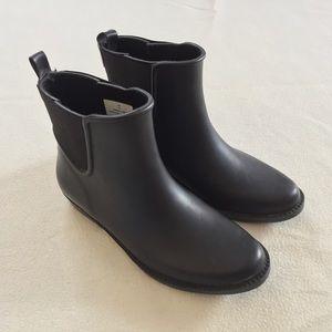 London Fog Black Lisa Ankle Rain Boots - Size 7